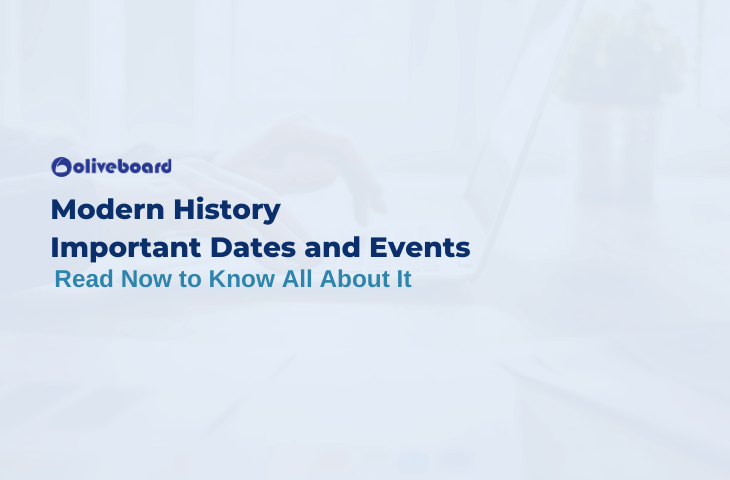 Modern History Important Dates