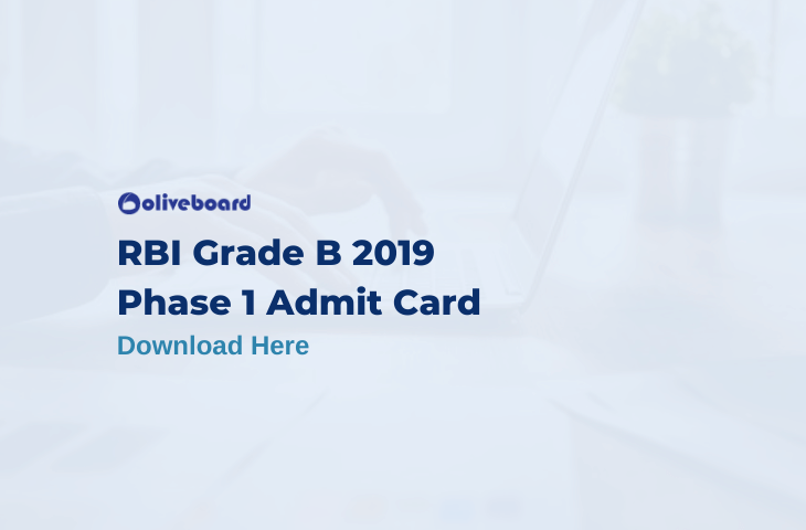 RBI Grade B Admit Card 2019
