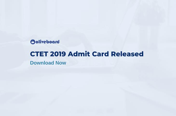 CTET 2019 Admit Card