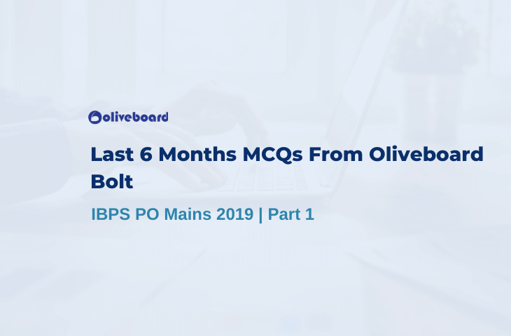 Last 6 Months MCQs Of Oliveboard Bolt