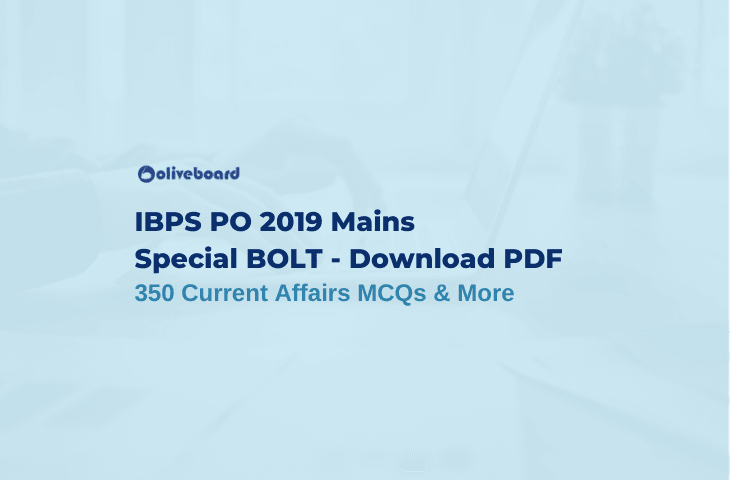 Current Affairs MCQs PDF - IBPS PO Bolt
