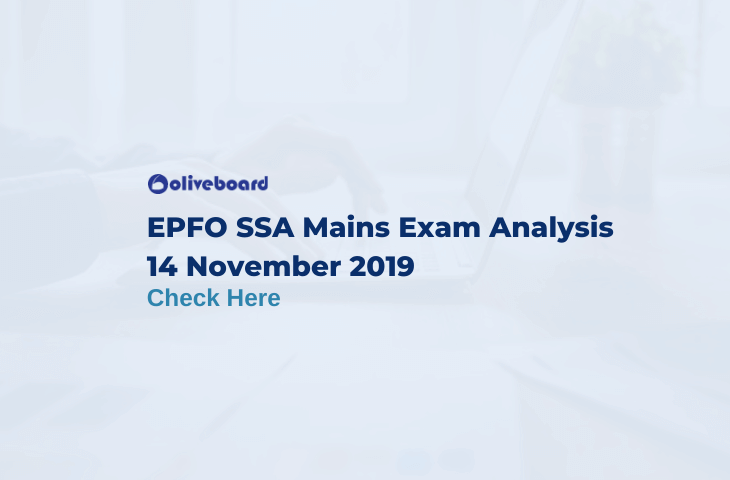 EPFO SSA Mains Exam Analysis 2019