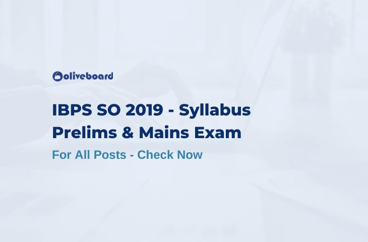 IBPS SO Syllabus 2019