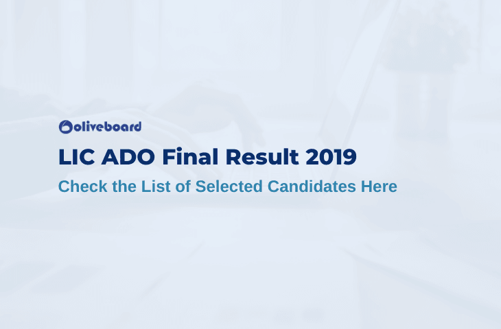 LIC ADO Final Result 2019