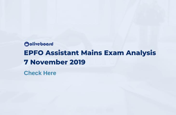 EPFO assistant mains exam analysis