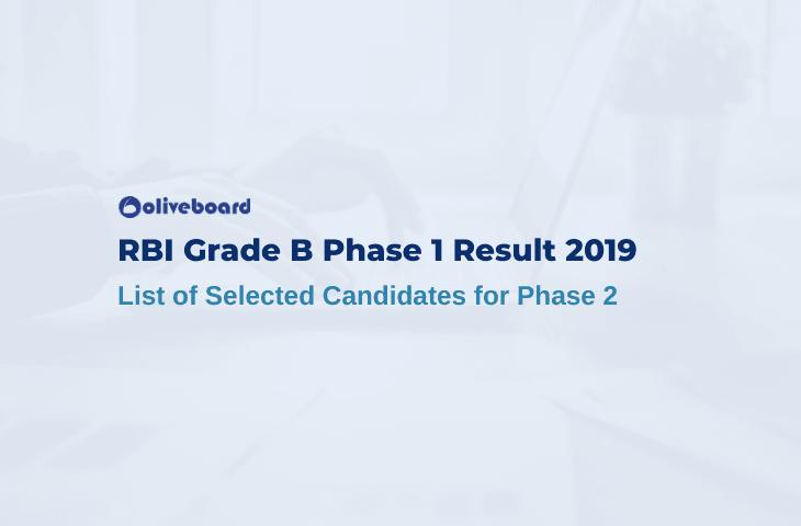 RBI Grade B Prelims Result 2019