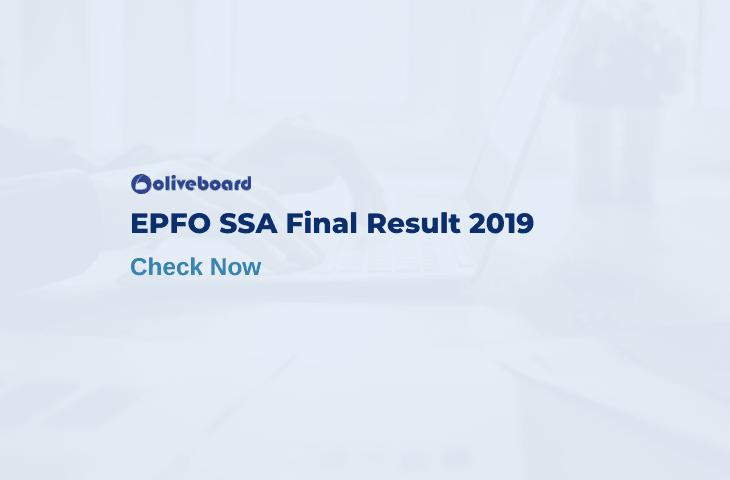 EPFO SSA Final Result