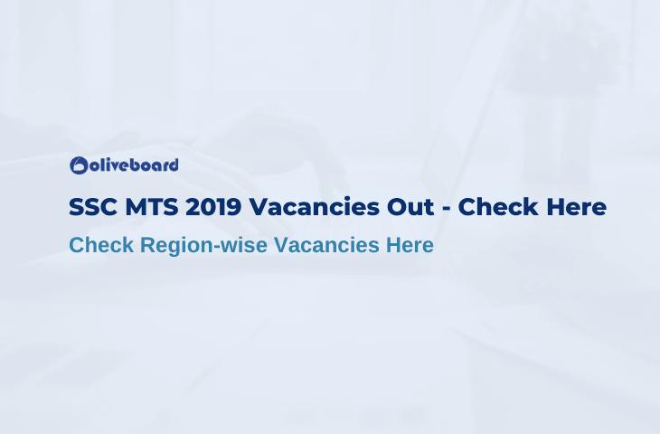 SSC MTS Vacancy 2019