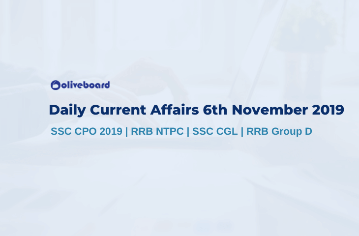 Current Affairs 6th November 2019