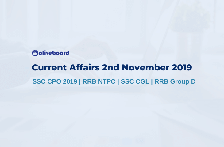 Current Affairs 2nd November 2019