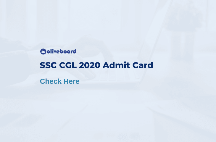 SSC CGL 2020 Admit Card