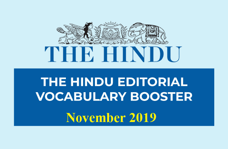 Vocabulary Booster November 2019