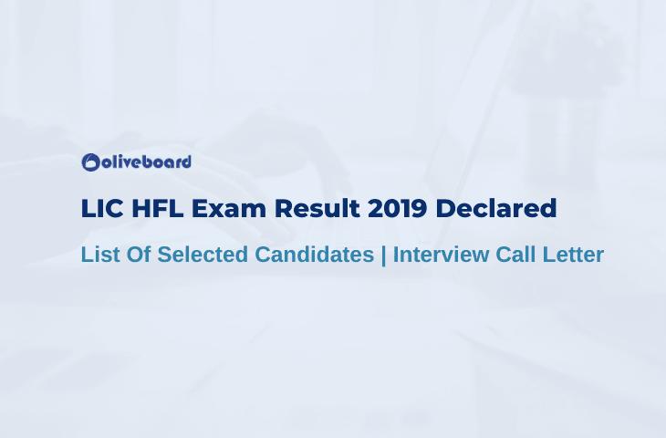 LIC HFL Exam result