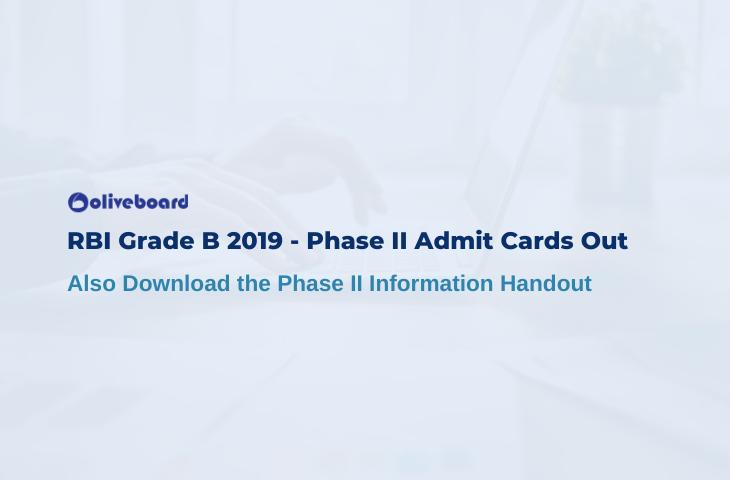 RBI Grade B phase 2 admit card
