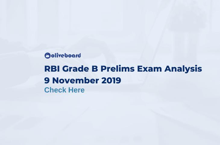 RBI Grade B Prelims Exam Analysis 2019