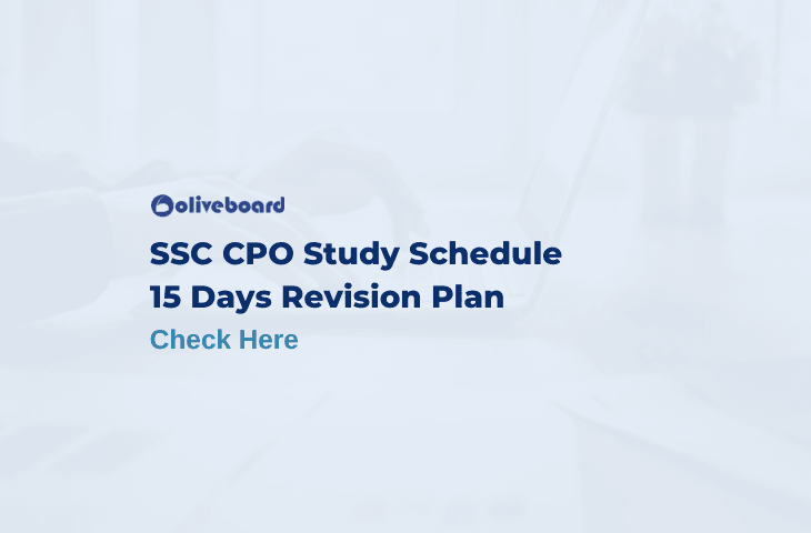 SSC CPO Study Schedule