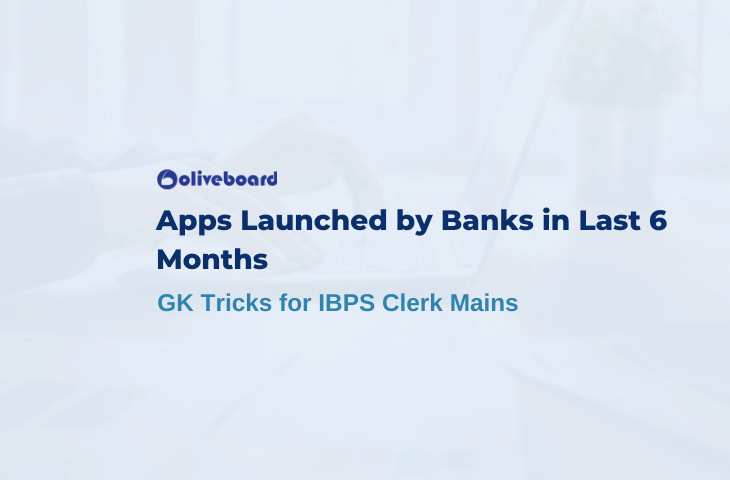 Apps Launched by Banks in Last 6 Months