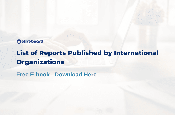 List of Reports Published by International Organizations PDF