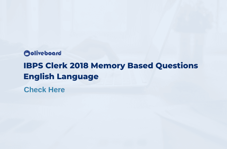 IBPS Clerk Memory Based Questions