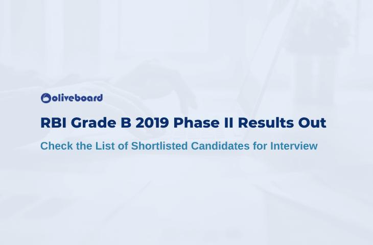 RBI Grade B 2019 Phase 2 Result