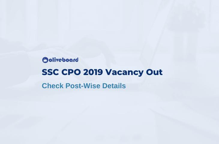 SSC CPO 2019 Vacancy