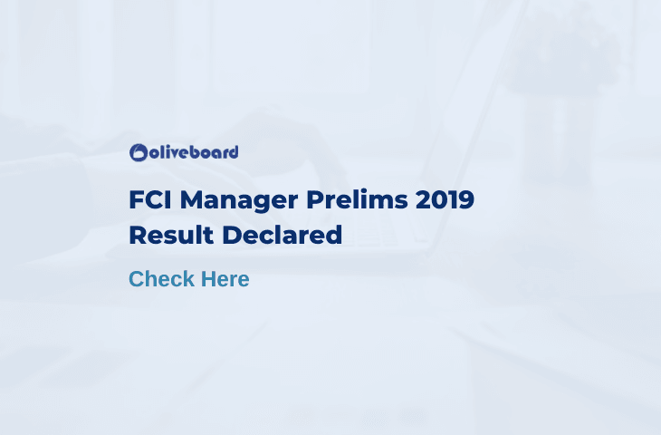 FCI Manager Prelims Result