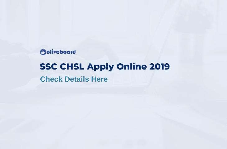SSC CHSL 2019 Apply Online
