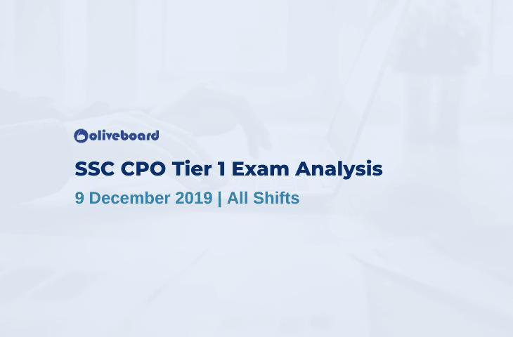SSC CPO Tier 1 exam analysis 2019