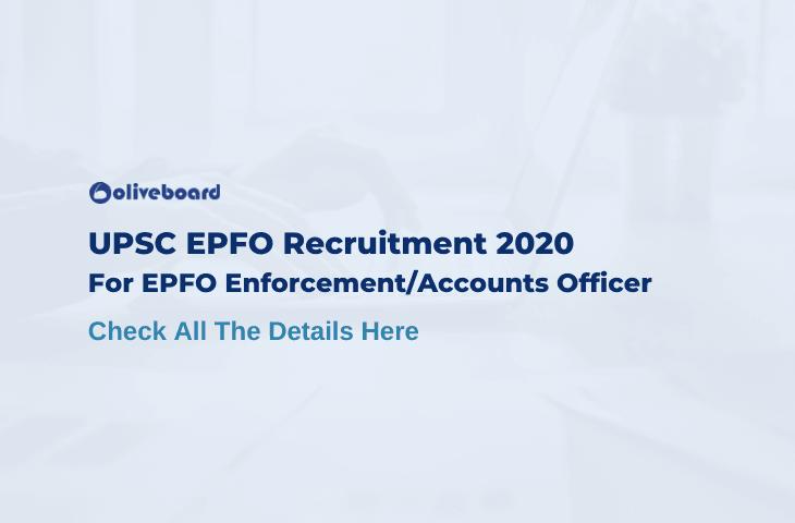 EPFO Enforcement Officer Recruitment 2020