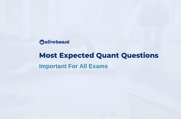 Most Expected Questions In Quantitative Aptitude
