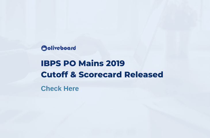 IBPS PO Mains Cut off 2019