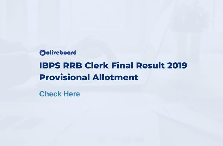 IBPS RRB Clerk Final result 2019
