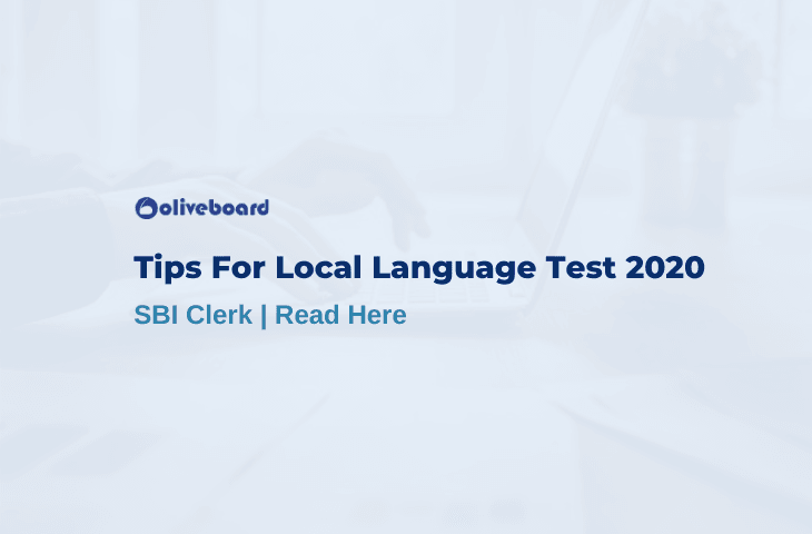 SBI Clerk Local Language Test