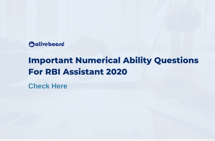 RBI Assistant Quant Questions