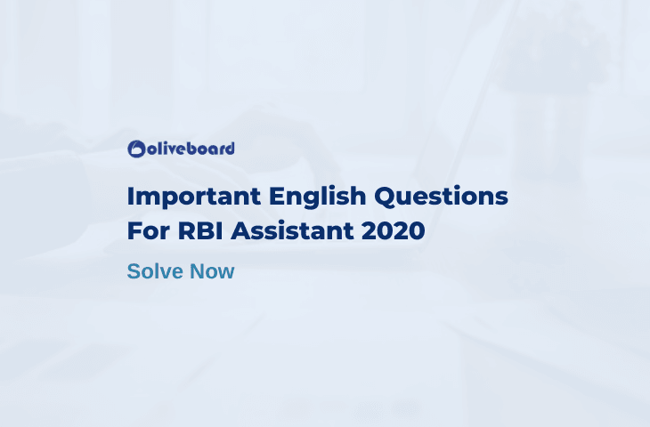 RBI Assistant English Questions