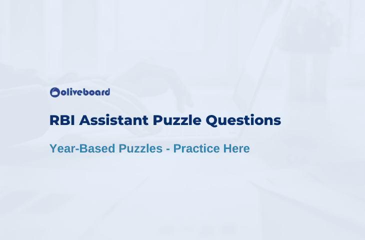 RBI Assistant Puzzle Questions