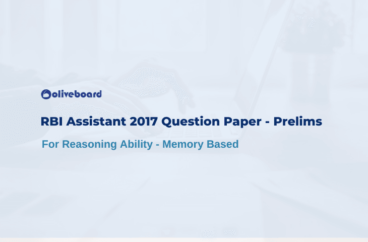 RBI Assistant 2017 Question Paper