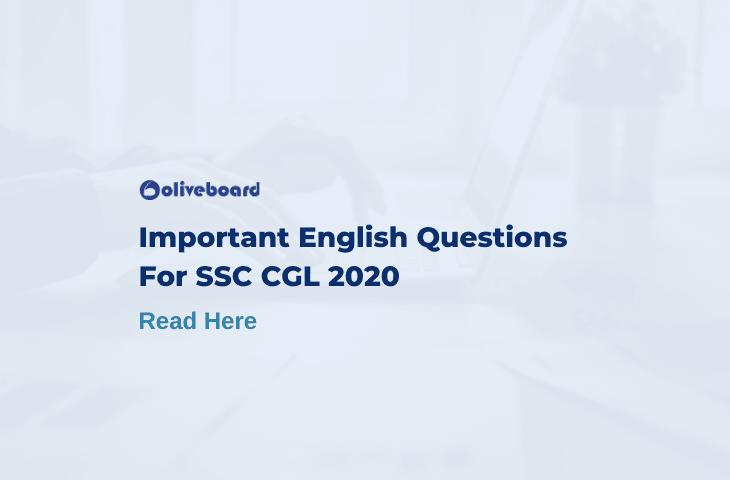 SSC CGL English Questions
