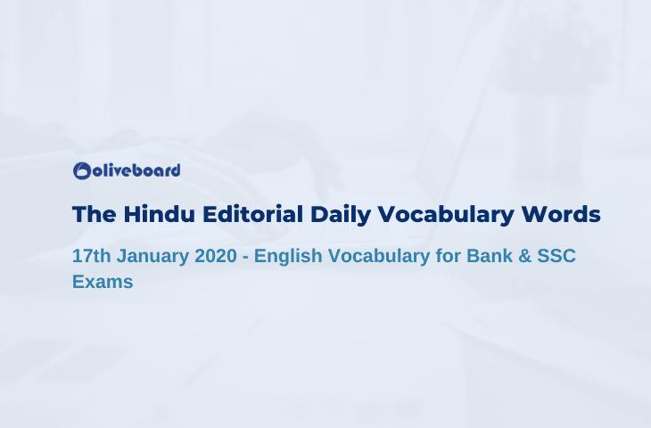 Daily Vocabulary Words 17 January 2020