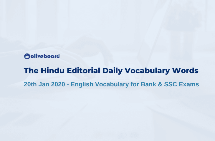 Daily Vocabulary Words 20 January 2020