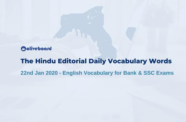 Daily Vocabulary Words 22 January 2020
