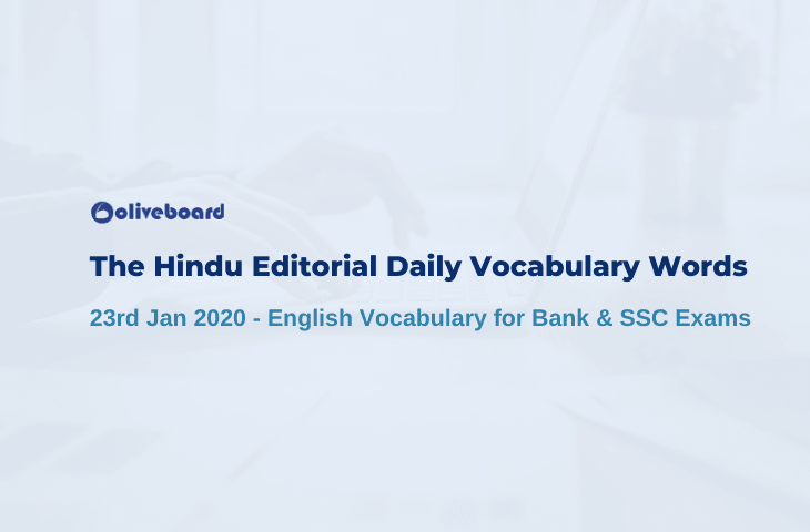 Daily Vocabulary Words 23 January 2020