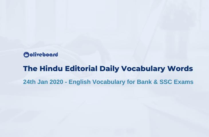 Daily Vocabulary Words 24 January 2020