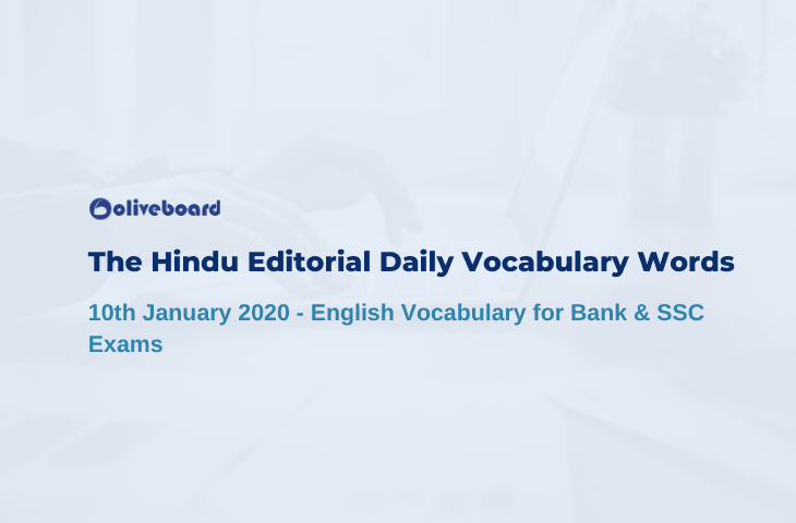Daily Vocabulary Words 10 January 2020