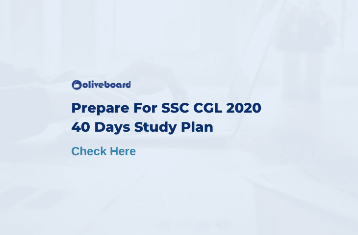 SSC CGL 2020 Study Plan