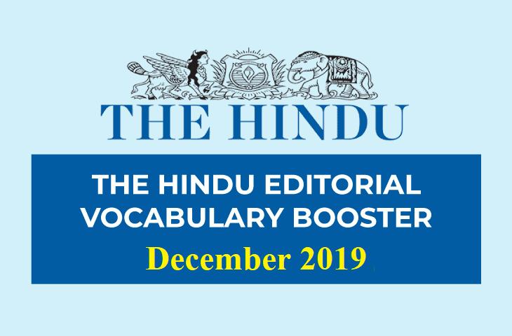 Vocabulary Booster December 2019