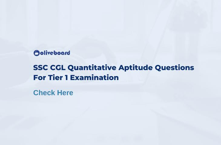 SSC CGL Quantitative Aptitude Questions