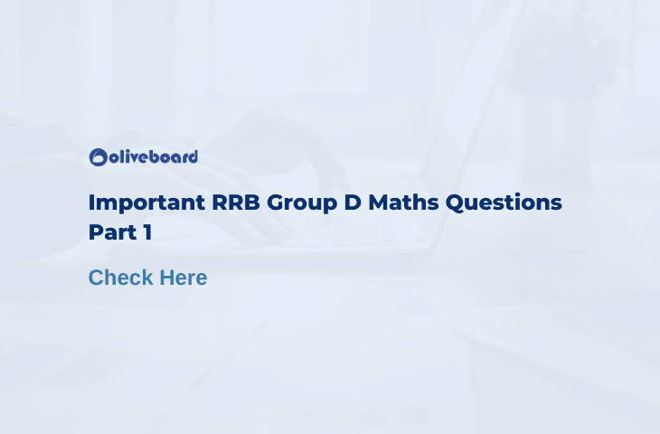 RRB Group D Maths Questions