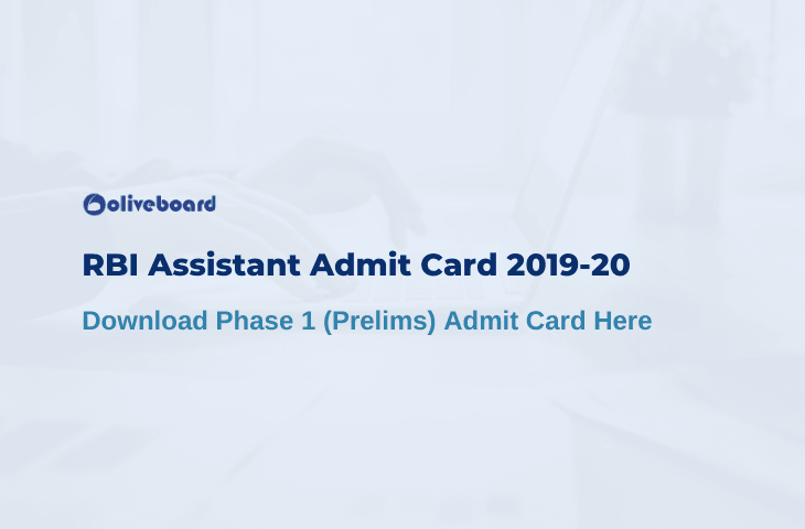RBI Assistant Admit Card 2019