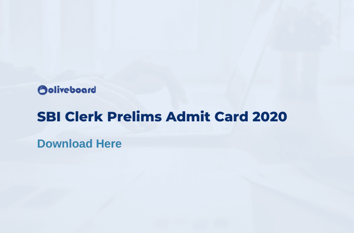 SBI Clerk Admit Card 2020